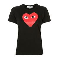 Comme Des Garçons Play Camiseta Com Estampa De Logo - Preto