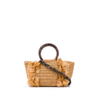 Carolina Santo Domingo Fringe Trim Tote - Neutro