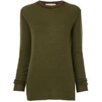 Marni Suéter Decote Careca De Cashmere - Green