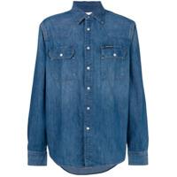 Ck Jeans Camisa Jeans Com Botões - Azul