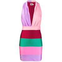 Fausto Puglisi Vestido Mini Color Block - Rosa