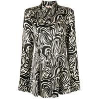 Marni Camisa Com Estampa De Zebra - Preto