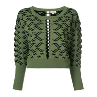 Temperley London Suéter Cropped - Green