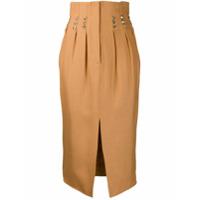 Atu Body Couture Rhinestone-Embellished Midi Skirt - Dourado