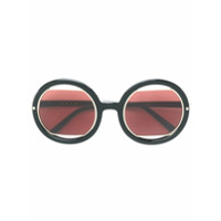 Marni Eyewear Óculos De Sol Oversized - Preto