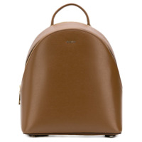 Dkny Leather Backpack - Marrom