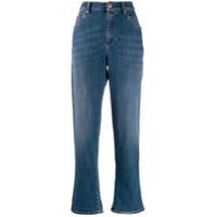 Brunello Cucinelli Calça Jeans Boyfriend Cintura Alta - Azul