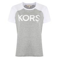 Michael Michael Kors T-Shirt Com Logo Estampado - Cinza