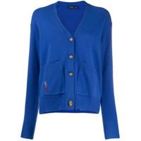 Polo Ralph Lauren Cardigan Com Decote Em V E Botões - Azul