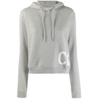 Calvin Klein Jeans Moletom Com Estilo Boxy - Cinza