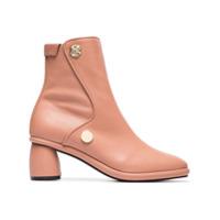 Reike Nen Ankle Boot De Couro - Rosa