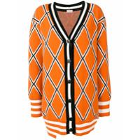 Mrz Diamond Knitted Cardigan - Laranja