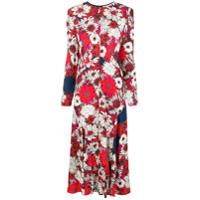Cédric Charlier Vestido Com Estampa Floral - Vermelho
