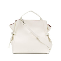 Orciani Fan Large Grained Shoulder Bag - Branco
