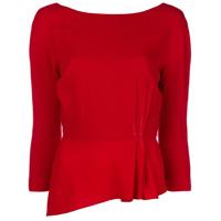 Lanvin Blusa Peplum - Vermelho