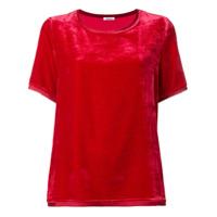 P.a.r.o.s.h. Camiseta De Seda E Veludo - Vermelho