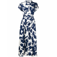 Talbot Runhof Vestido Sorrentina Floral - Azul