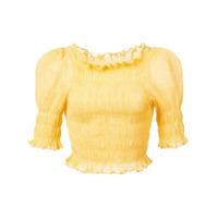 Jill Stuart Blusa Cropped Com Franzido - Dandelion
