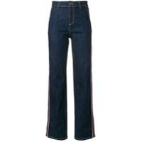 Frankie Morello Calça Jeans Pantalona Cintura Alta - Azul