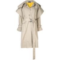 Eudon Choi Trench Coat Com Cinto - Neutro