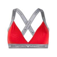 Emporio Armani Sutiã Com Logo - Vermelho