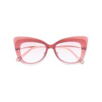 Chloé Eyewear Óculos De Sol De Gatinho - Rosa