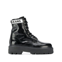 Tommy Jeans Leather Ankle Boots - Preto
