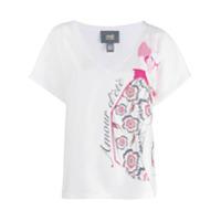 Cavalli Class Camiseta Decote Em V Com Estampa - Branco