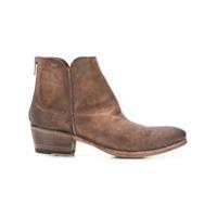Pantanetti Ankle Boot De Couro - Marrom