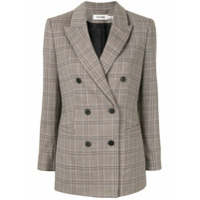 Cefinn Check Double Breasted Blazer - Cinza