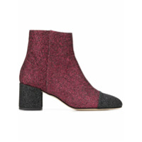 Paris Texas Glitter Ankle Boots - Vermelho