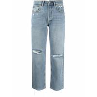 Boyish Jeans Calça Jeans Reta Tommy Com Efeito Destroyed - Azul
