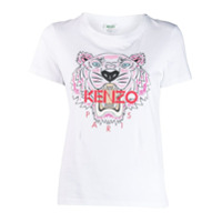 Kenzo Camiseta Com Estampa De Tiger - Branco