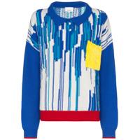 I-Am-Chen Suéter De Tricô Com Listras - Azul