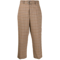 Berwich Check Cropped Trousers - Marrom