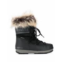 Moon Boot Faux-Fur Trim Moon Boots - Preto