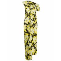 Colville Vestido Assimétrico Com Estampa Floral - Preto
