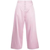 Fleur Du Mal Calça Pantalona - Rosa