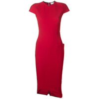 Victoria Beckham Vestido Midi - Vermelho