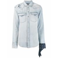 Diesel Camisa Jeans De-Bandy - Azul