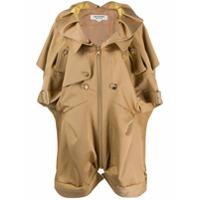 Junya Watanabe Trench Coat Mangas Curtas - Neutro
