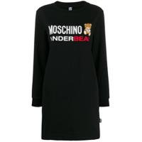 Moschino Underbear Logo Sweater Dress - Preto