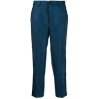 Berwich Houndstooth Cropped Trousers - Azul