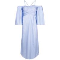 Teija Vestido Midi Evasê - Azul