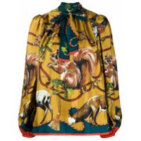Dolce & Gabbana Blusa Com Animal Print - Amarelo