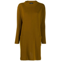 Roberto Collina Shift Sweater Dress - Neutro