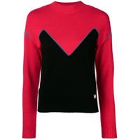Msgm Colour-Block Sweater - Vermelho