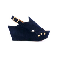 Chloé Sandália 'mischa' De Camurça - Azul