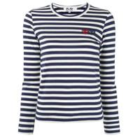 Comme Des Garçons Play Camiseta Com Estampa De Listras - Azul
