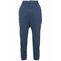 Nili Lotan High Waisted Cropped Trousers - Azul